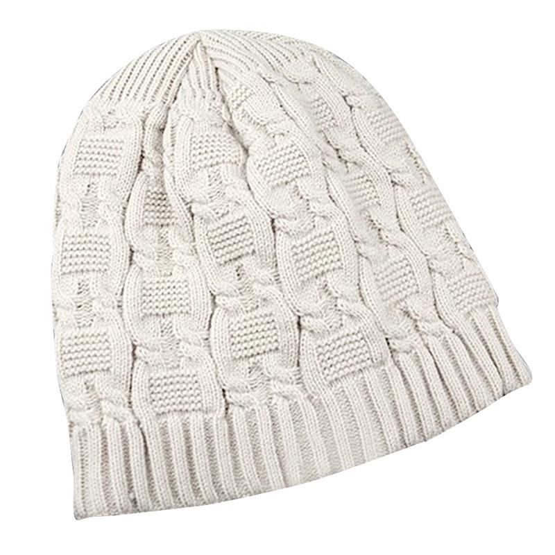 Doble trenzado sombreros gruesa lana de punto sombrero, touca gorro ...