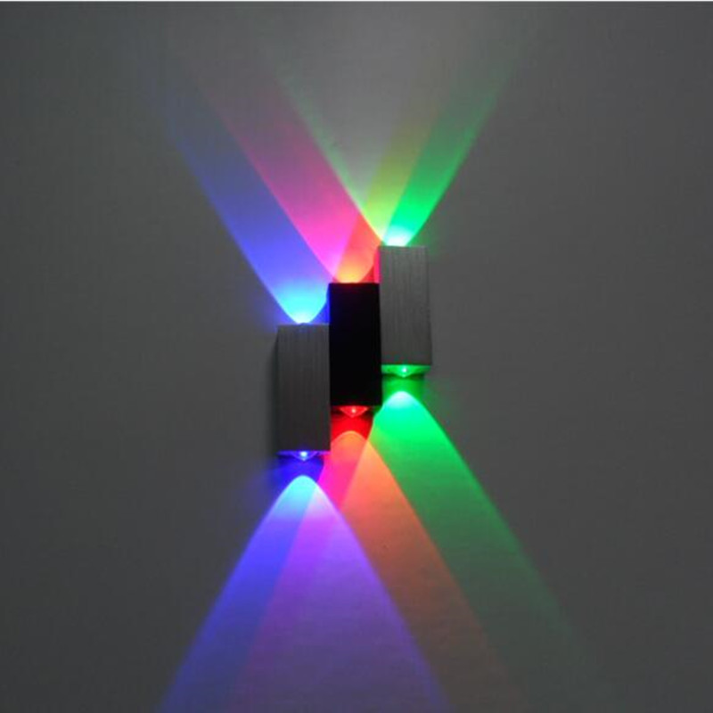 6W led wall lamp square led spot light aluminum modern