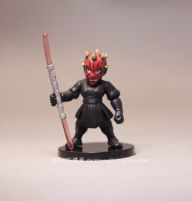 Click here!! 4 pcs New Star Wars Darth Maul véritable vrac blanc pion C-3PO  poupée robot main ornements bd08b19a44a2