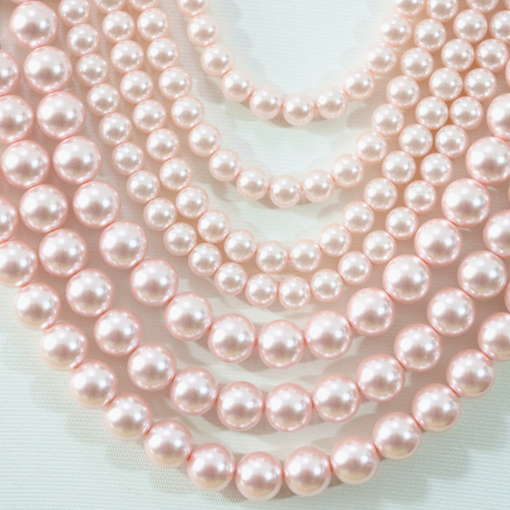 Bijoux Making 230 + Perles Craft 3mm Perles de verre synthétique Strand-Blush Pink