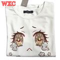 Big Eyes Cry Women T Shirt Cotton Summer Short Sleeve Japanese Kawaii Tops 2016 Summer Sexy