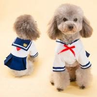 2016 Dog Dress Cat Pet Clothes Navy Style Costume Sailor ...