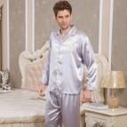 Long Sleeve Satin Pajama Sets for Women