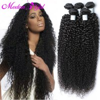new 7a Brazilian hair bundles curly hair wet and wavy ...