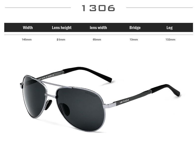 ᑐVEITHDIA Óculos De Sol Da Marca Designer Pilot Polarized Masculino ... ea1c121532