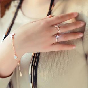 795907d20a6f Micro pavé circón anillos ajustables para mujeres Bijoux nuevo ...