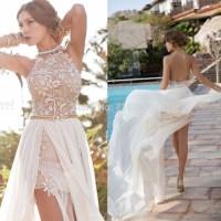 2016 Bride Dress Beach Chiffon lace Wedding Dresses Sexy ...