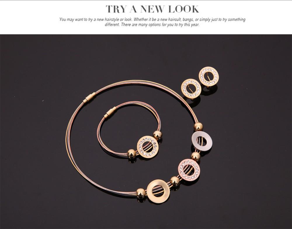 222b5d45f2 nouvelle Arrivée De Mode Design Cristal Zircon Ensemble de Bijoux De  Mariage Ensemble de Bijoux Pour Les Femmes e-shine Bijoux T2223 US  $7.92/set ...