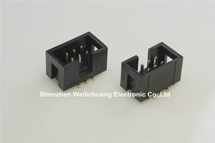 ≧1000 unids SMT 2.54mm 2x3 Pasadores 6 P envuelto caja encabezado ...
