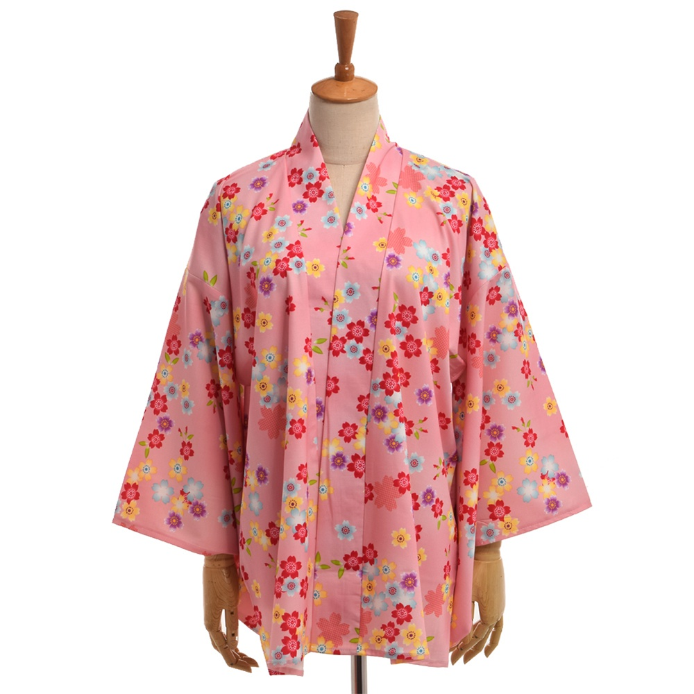 Пуловер бокси с рукавом кимоно узором Двойной рис