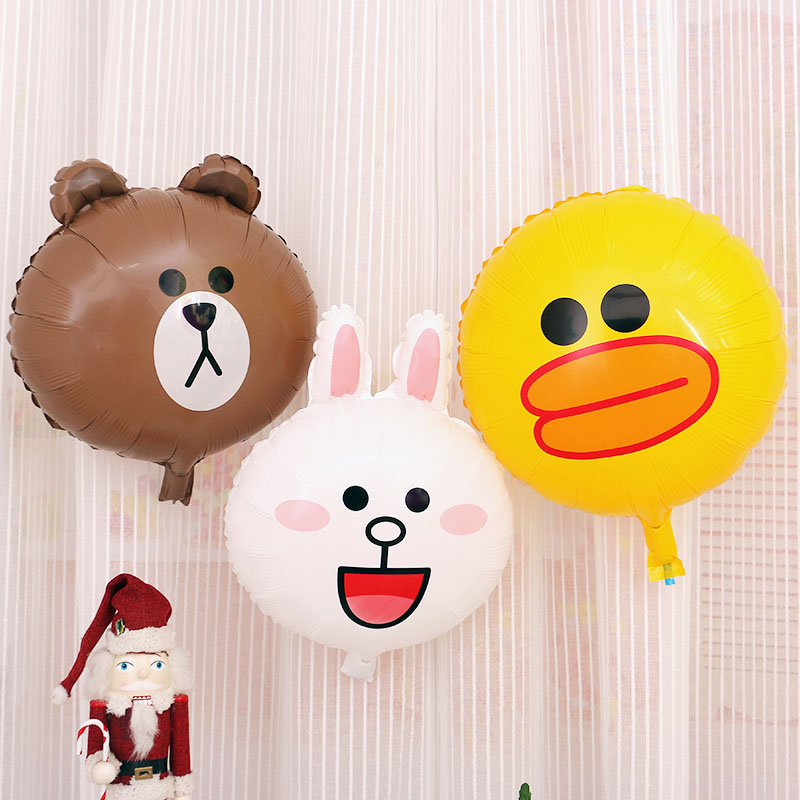 Cut Line friend balloon Bronw bear Keni rabbit Sally duck Foil Balloons For Wedding Party Birthday children toys-in Balloons from Toys & Hobbies ...
