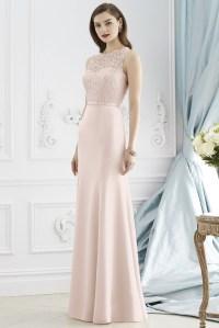 Blush Lace 2015 Bridesmaid Dress With Bow Belt Blush ...