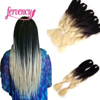 Ombre Braiding Hair two tone High Temperature Fiber ombre