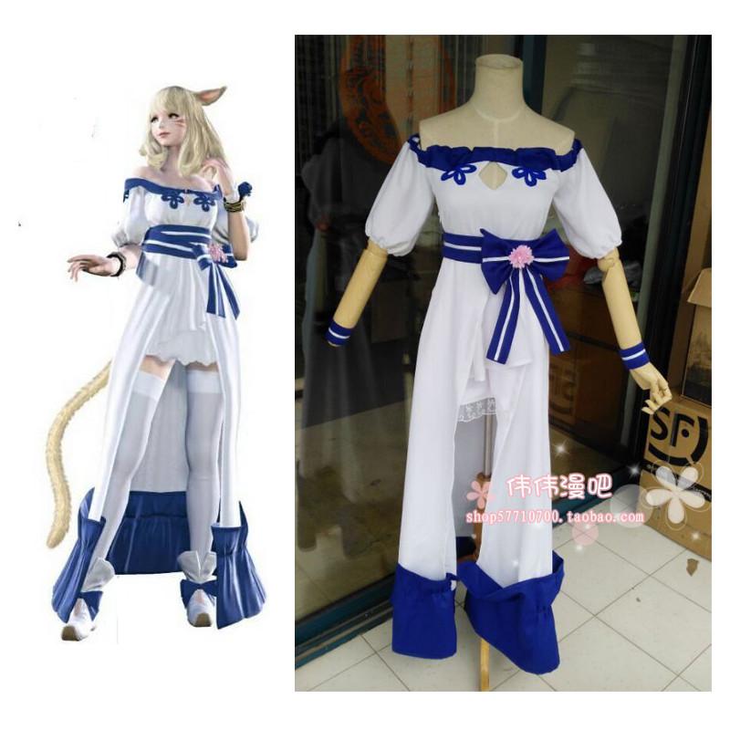 ⑤2016 Final Fantasy XIV игры Аниме Мода Лолита Вечернее ...