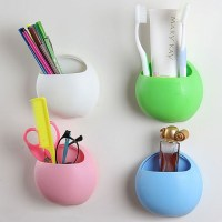 2016 Hot Organizer Bathroom Toothbrush Holder Cup Wall ...