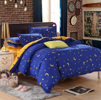 star moon bedding sets 3pcs/4pcs twin queen king stripe