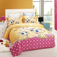 duvet cover kids bed cat print bedding set children Girls