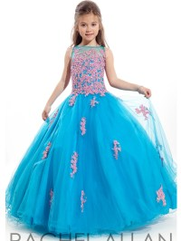 2016 Girls Pageant Dresses Ball Gown Turquoise Beaded Blue ...
