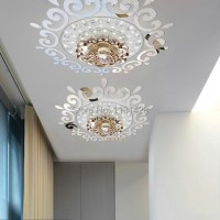 Top ceilling mirror wall sticker , top lighting the ...