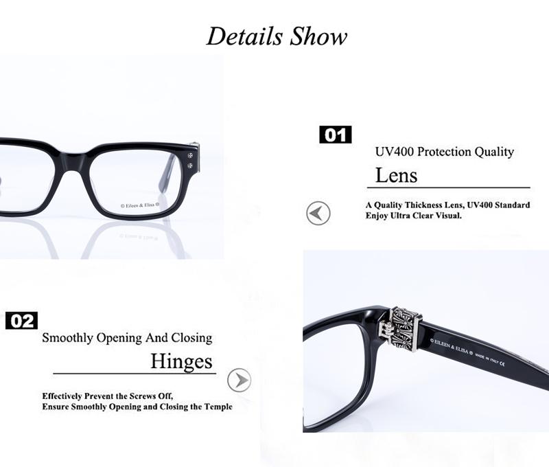 9f77d59e7111d Vidros Do Olho Homens de luxo Originais Homens Óculos de Armação 2016 Óculos  de Marca Óculos de Acetato Frame Ótico EE Fresco Mens