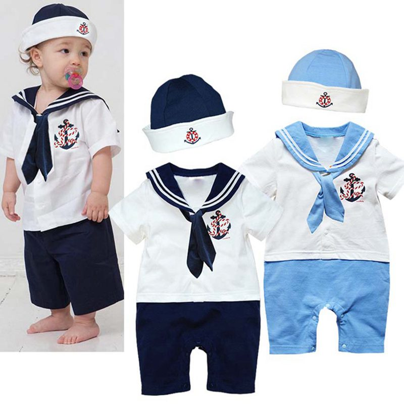 77e49bb59b313 great cute sailor baby boy clothes one piece jumpsuits hats bebes boys suit  infant clothing sets vetement bebe garcon roupa infantil set pcs one piece  with ...