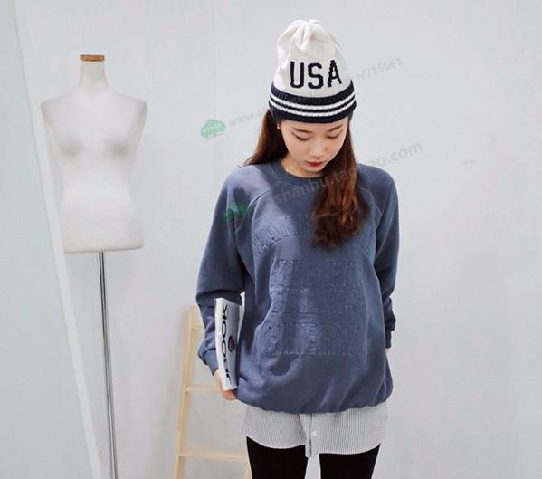 ᗗNueva ee.uu. americano Beanie sombrero de lana de invierno cálido ...