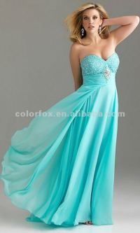 Free Shipping Aqua Full Length Sequin Embellished Bust ...