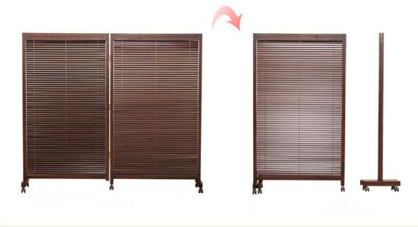 Japanese Folding Screen 2 Panel Wood Room Divider Home Decor Oriental Decorative Portable Asian