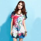 Cotton Floral Dress Plus Size Women