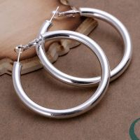 Wholesale Factory Price hoop earrings silver sterling