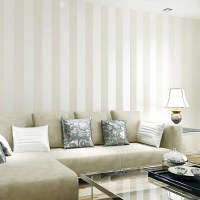 Modern Silver Glitter White Striped Wallpaper For Wall