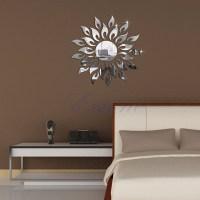 3D Mirror Wall Decal Decor Art Sticker Home Sunshine Fire