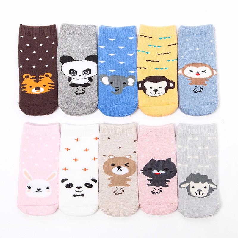 5x Cartoon Star Pattern Baby Chaussettes Garçon Fille Mignon Multi-Couleurs Enfants Coton Chaussettes