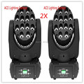 2pcs lot Free Fast Shipping hot sale LED Beam Moving Head Light 12x 12W RGBW Quad