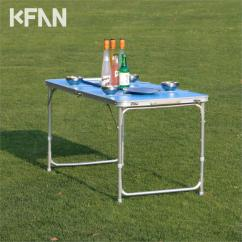 Folding Table And Chairs Set Camping Wheelchair Width Reinforcement Section Aluminum Outdoor Portable
