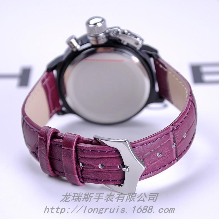 52560d9beb3c Guou reloj relojes impermeable Relojes de mujer de cuarzo relojes realmente  correa de cuero neutral guapo dial grande con Calendarios