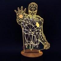 Free Shipping Iron Man Lamp 3D Night Light Micro USB LED ...