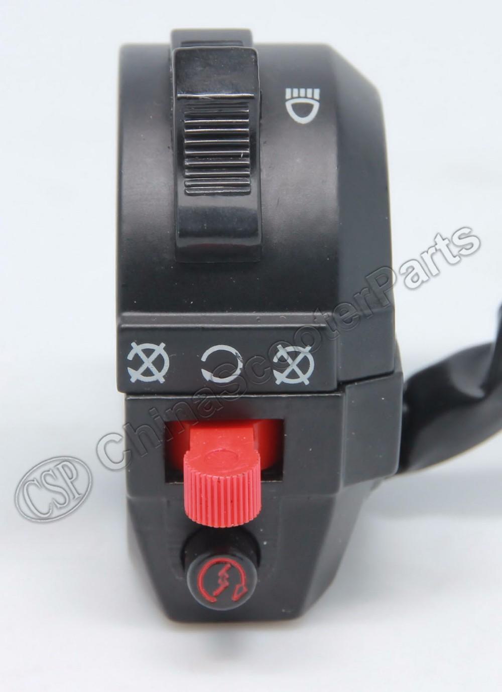 Kill Headlight Start Left Handlebar Switch 50cc 90cc Kazuma Mini Redcat 110cc Wiring Diagram Falcon Meerkat 7 Wire Old Version