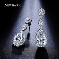 NEWBARK Big Earrings Fashion For Women Cubic Zircon