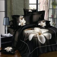 3D White Orchid comforter bedding sets queen king size ...