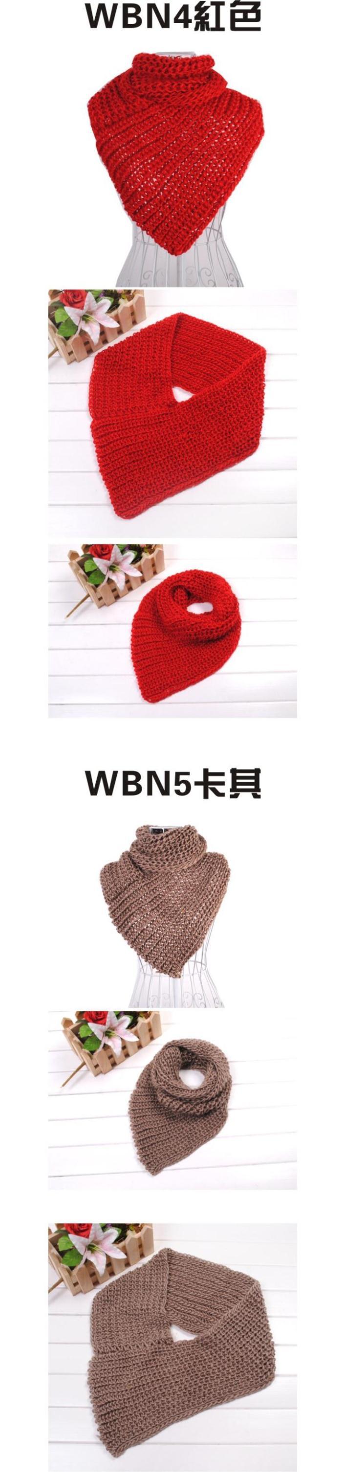 ̿̿̿(•̪ )Mujeres de invierno de punto bufanda triángulo cuello punto ...
