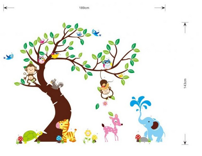 ᗐZY1214 nuevo Jardín de Infantes para niños dormitorios búho mono ...