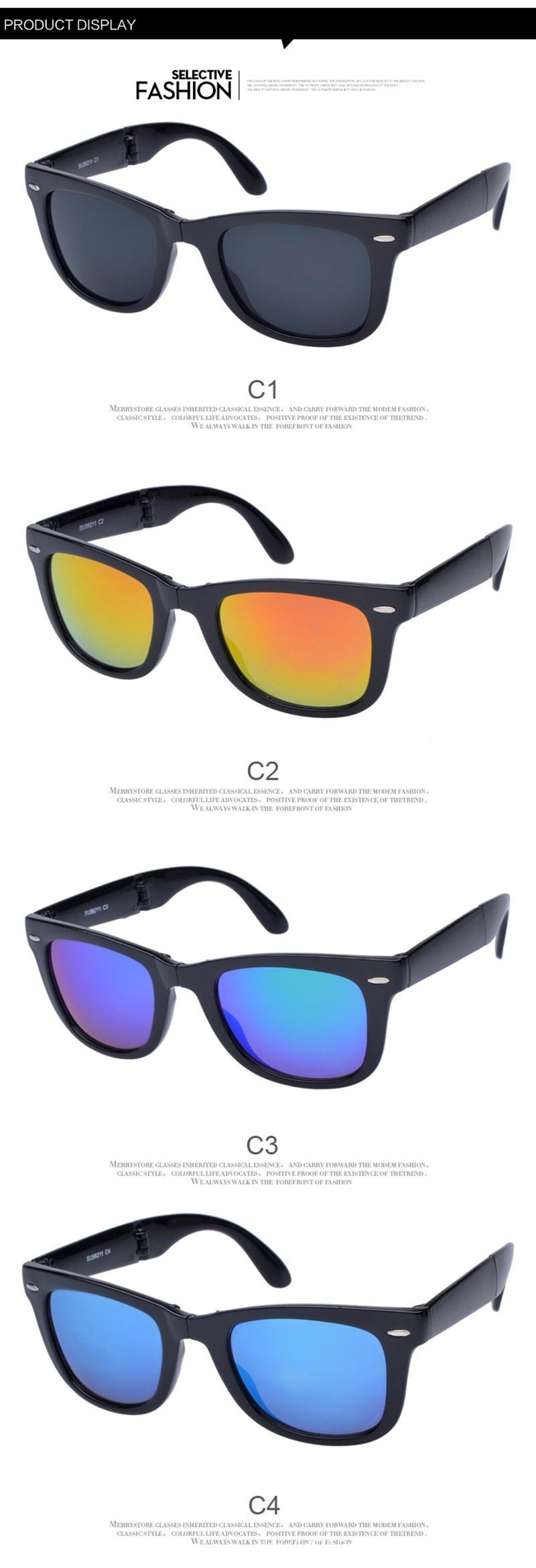 mulheres e Homens Óculos de Sol Design de Moda Dobrável Óculos de Sol UV 400 66179ad079