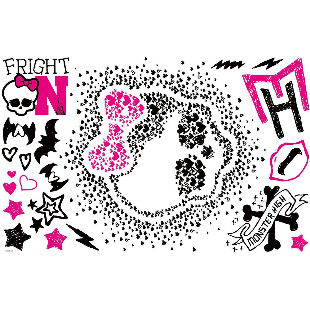 Monster High Heart Skullette Wall Stickers Mural 18 Decal Party