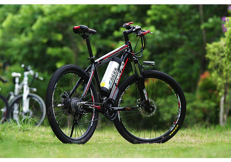 HTB1DoYrQVXXXXXSXFXXq6xXFXXXl - 26inch electrical mountain bicycle aluminum alloy ebike 27velocity e-mtb 48V lithium battery 500W motor  Hybrid bicycle