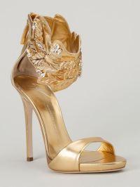 New designer shoes women gold leaf ankle wrap gladiator ...