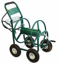 New 300FT Outdoor Garden Water Hose Reel Cart Heavy Duty ...