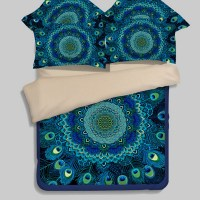 Popular Peacock Feather Bedding-Buy Cheap Peacock Feather ...