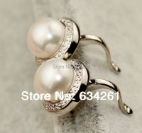 Aliexpress.com : Buy Real Pearl Stud Earrings, Natural