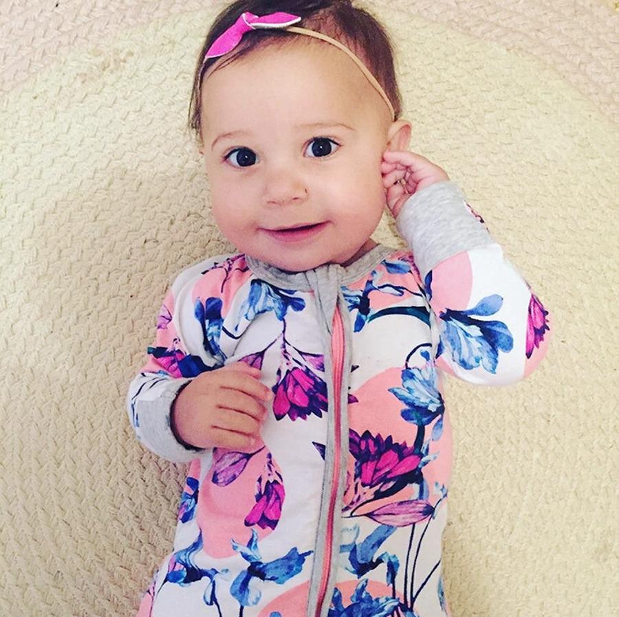 ̿̿̿(•̪ )Bebé recién nacido ropa de algodón Boy Girl jumpsuit ropa ...